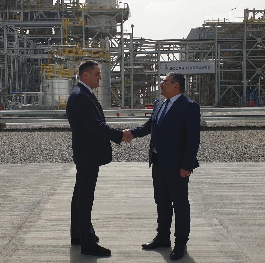 Официальный визит президента SCIF Congress на карбамидный завод SOCAR