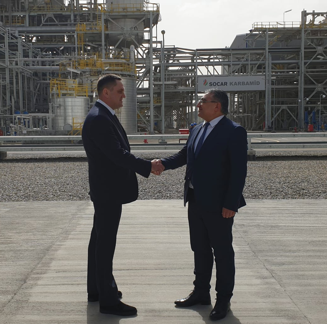 SCIF Congress President official visit of SOCAR Carbamide Plant